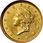 1851-C Gold Dollar. Winter-3. MS-61 (NGC).