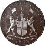 东印度公司。马德拉斯总统。1808年20文。