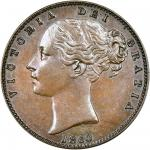 Victoria (1837-1901), copper Farthing, 1860, young head left, rev. Britannia seated right (Peck 1588