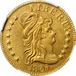 1805 Capped Bust Right Half Eagle. BD-2. Rarity-4. Perfect 1, Close Date. Unc Details--Cleaned (NGC)