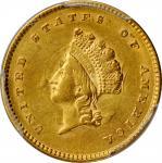 1854 Gold Dollar. Type II. AU-58 (PCGS).