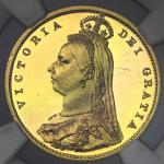 GREAT BRITAIN Victoria ヴィクトリア(1837~1901) 1/2Sovereign 1887 NGC-PF62 Ultra Cameo Proof -UNC