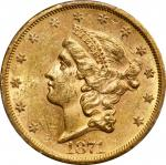 1871-S Liberty Head Double Eagle. MS-61 (PCGS). CAC.
