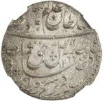AWADH: Wajid Ali Shah, 1847-1858, AR rupee, Lucknow, AH1269 year 6, KM-365。3, brilliant original lus