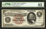 Fr. 263. 1886 $5 Silver Certificate. PMG Choice Uncirculated 63.