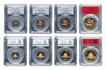 1982年熊猫纪念金币一组4枚 PCGS MS 69