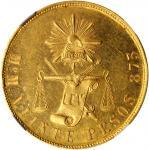 MEXICO. 20 Pesos, 1889-Mo M. Mexico City Mint. NGC MS-63 Prooflike.