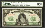 CANADA. Dominion of Canada. 1 Dollar, 1917. DC-23b. PMG Choice Uncirculated 63 EPQ.