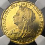 GREAT BRITAIN Victoria ヴィクトリア(1837~1901) Sovereign 1893 NGC-PF62 Cameo Proof -UNC