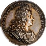 GREAT BRITAIN. George I Coronation Silver Medal, 1714. London Mint. PCGS SPECIMEN-63 Gold Shield.