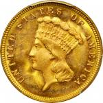 1882 Three-Dollar Gold Piece. MS-65 (PCGS).