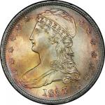 1837 Capped Bust Half Dollar. Graham Reiver-9. Rarity-1. 50 CENTS. Mint State-67 (PCGS).