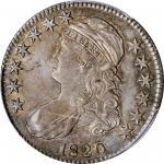 1820 Capped Bust Half Dollar. O-106. Rarity-1. Square Base 2, No Knob, Large Date. AU-53 (PCGS).