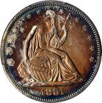 1881 Liberty Seated Half Dollar. WB-101. Type I Reverse. Proof-63 (PCGS). CAC.