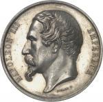 FRANCE Second Empire / Napoléon III (1852-1870). Médaille, création du port de commerce de Porstrein
