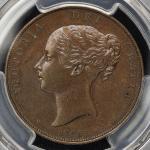 GREAT BRITAIN Victoria ヴィクトリア(1837~1901) Penny 1845 PCGS-MS62BN AU