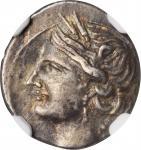 ZEUGITANA. Carthage. AR 1/4 Shekel (1.88 gms), Italian Mint, ca. 216-211 B.C.NGC EF, Strike: 4/5 Su