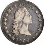 1795 Flowing Hair Silver Dollar. BB-21, B-1. Rarity-2. Two Leaves. VF-25 (PCGS).