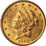 1860 Liberty Head Double Eagle. MS-62 (PCGS).
