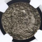 GREAT BRITAIN George I ジョージ1世(1714~27) Shilling 1723SSC NGC-MS61 AU