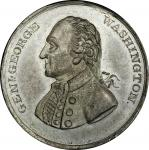 Circa 1832 Stuart Portrait medal. Musante GW-84, Baker-129. White Metal. MS-63 (PCGS).