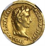 AUGUSTUS, 27 B.C.- A.D. 14. AV Aureus (7.87 gms), Lugdunum Mint, ca. 2 B.C.-A.D. 14. NGC Ch VF, Stri