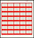1968年文7独立新票全张1件,共35枚,边纸完整,颜色鲜豔,保存完好,上中品,少见。 China  Peoples Republic  Peoples Republic - Full Sheets