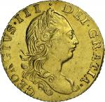 George III (1760-1820), Half-Guinea, 1775, third laureate bust right, rev. crowned shield (MCE 416;