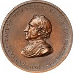 1849 Zachary Taylor Indian Peace Medal. Bronze. Third Size. Second Reverse. Julian IP-29, Prucha-47.