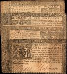 Lot of (4) MD-67, 68, 69 & 70. Colonial Notes. 1774. $2, $4, $6 & $8. Fine to Choice Very Fine.