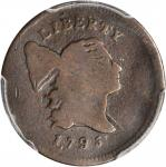 1795 Liberty Cap Half Cent. C-4. Rarity-3. Plain Edge, Punctuated Date. AG-3 (PCGS).