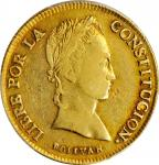 BOLIVIA. 8 Scudos, 1846-PTS R. Potosi Mint. PCGS VF-35 Gold Shield.