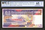 1984年新加坡货币发行局一仟圆。替补劵。PCGS GSG Gem Uncirculated 65 OPQ.