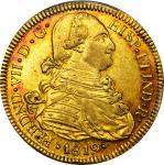 COLOMBIA. 1819-FM 8 Escudos. Popayán mint. Ferdinand VII (1808-1833). Restrepo M128.33. AU-55 (PCGS)