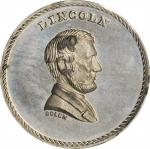 Undated (1867) Lincoln / Emancipation Medal. White Metal. 25 mm. Musante JAB-28, Cunningham 29-120W,