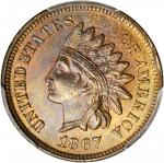 1867 Indian Cent. MS-65 RB (PCGS). CAC.