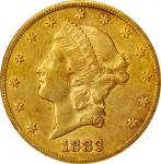 1883-CC Liberty Head Double Eagle. AU-55 (NGC).
