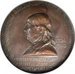 1906 Benjamin Franklin Birth Centennial Medal. Bronze. 100 mm. By Augustus and Louis Saint-Gaudens.