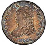 1823/2 Capped Bust Quarter. Browning-1. Rarity-6-. AU-58 (PCGS).PCGS Population: 1, 1 finer (AU-58+)