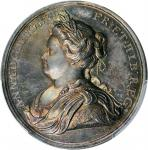 GREAT BRITAIN. Peace of Utrecht Silver Medal, 1713. Anne. PCGS MS-62 Gold Shield.