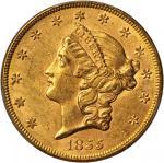 1855 Liberty Head Double Eagle. MS-61 (PCGS).
