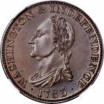 1783 (ca. 1860) Draped Bust Copper. Restrike. Musante GW-107, Baker-3, Vlack 17-L, W-10360. No Butto