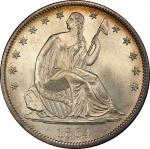 1864 Liberty Seated Half Dollar. WB-101. MS-67 (PCGS). CAC.