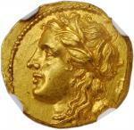 SICILY. Syracuse. Hieron II, 275-215 B.C. AV 60 Litrai (Hemistater) (4.30 gms), ca. 269-263 or 217-2