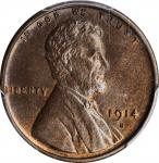 1914-S Lincoln Cent. MS-64 BN (PCGS).