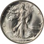 1937-D Walking Liberty Half Dollar. MS-64 (NGC). CAC.