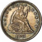 1875-CC Liberty Seated Quarter. Briggs 1-A. MS-65 (PCGS). CAC.