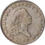 1795 Flowing Hair Half Dollar. O-103a, T-29. Rarity-5. Two Leaves. VF Details--Damage (PCGS).