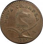 1787 New Jersey copper. Maris 60-p. Rarity-4. Large Planchet, PLURIBS. VF-20 (PCGS).
