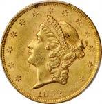 1852 Liberty Head Double Eagle. MS-60 (PCGS).